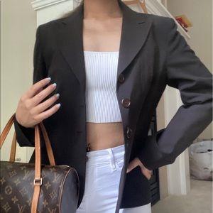 Wear Else? Brown Vintage Blazer Jacket